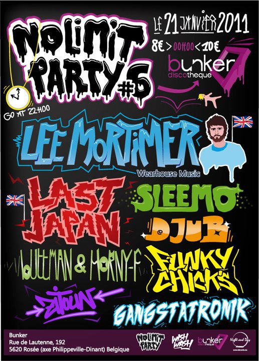 21 Janvier 2011 – Buttman & Horny F Dj set au Bunker pour la No Limit #6
