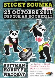 Sticky Soumka Rockerill Marchienne Belgique Soirée électro-dubstep