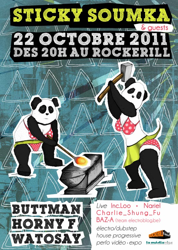 22 octobre 2011 – Rockerill – Une nuit Sticky Soumka & Guests